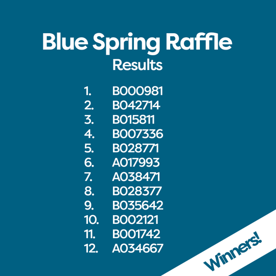 Winning Tickets Blue Spring Raffle