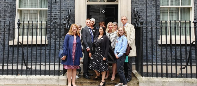 Katharine House staff and volunteers at 10 Downing Street