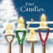 Four Candles Christmas Card